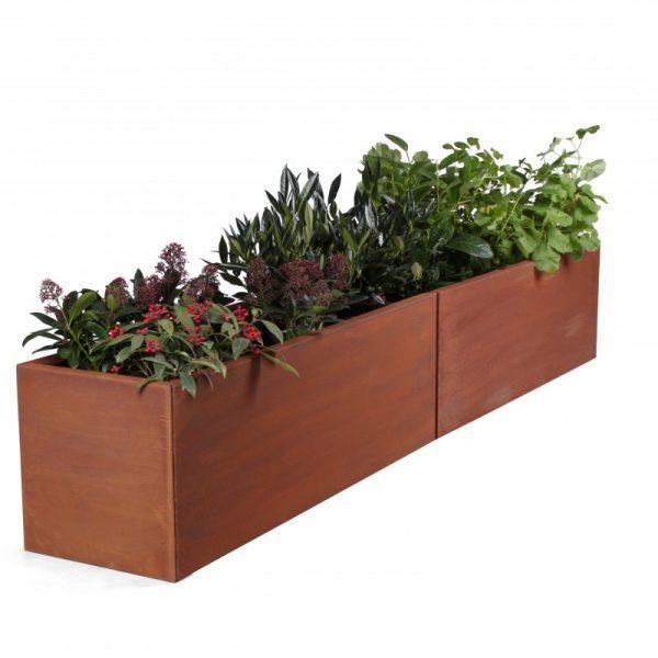 Land Modern 40 x 240 cm planteringskärl i corten