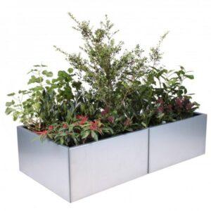 Land Modern 80 x 160 cm planteringskärl galvaniserat