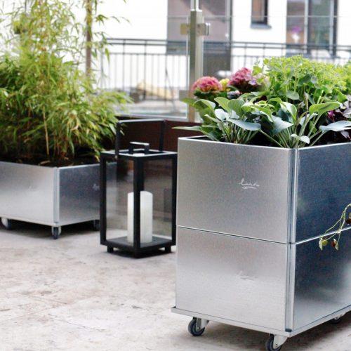 Växtlådor från Land Garden i inredning av Chrispdesign Stockholm