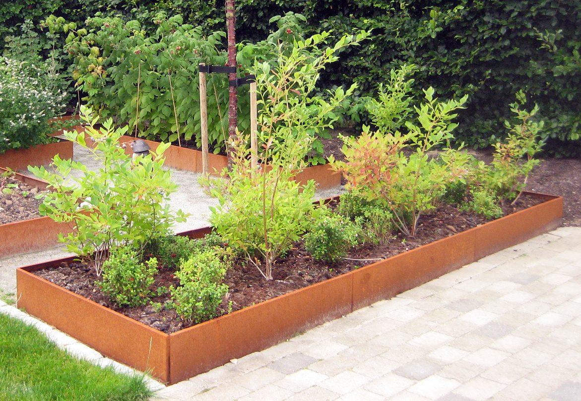 odlingslådor extra länge i rost från land odlingslådor för köksträdgården