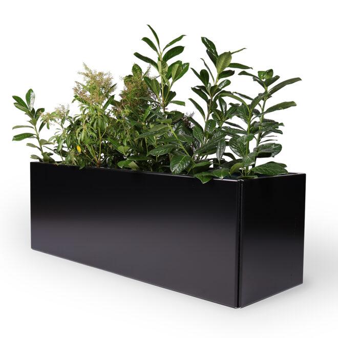 Land Black exklusiv svart blomlåda 40x120 cm från LandGarden.se