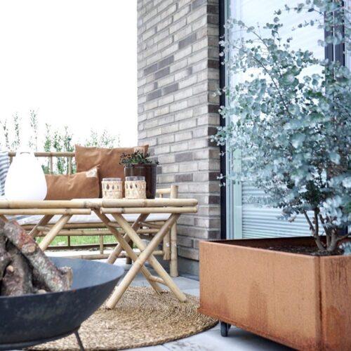 Land Classic mobil odlingslåda 60x60 cm i obehandlat järn rostar från LandGarden.se