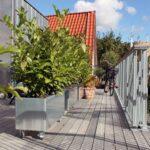 Land Modern – Avlång planteringskärl på hjul