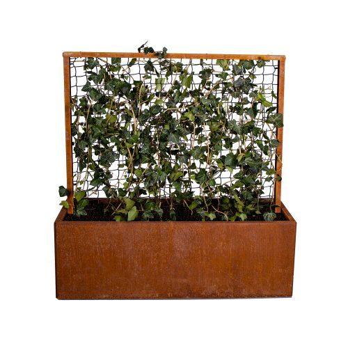 Land Modern planteringskärl med spaljé och føtter i corten från LandGarden.se